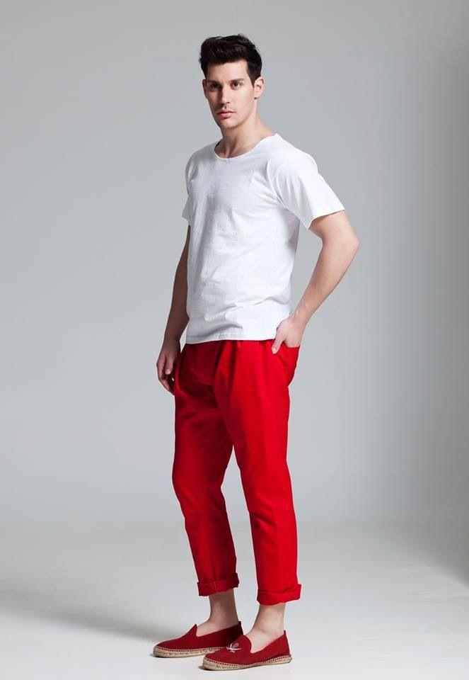 T-Shirt & Pants by Vassilis Thom! Photographer: Christos Theologou  Hair Stylist: Vassilis Stratigos  MUA: Christina Agkatha  Model: Manos Vrontzakis