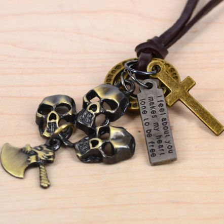 HAMMER TO FALL - Halsband med kors, yxa