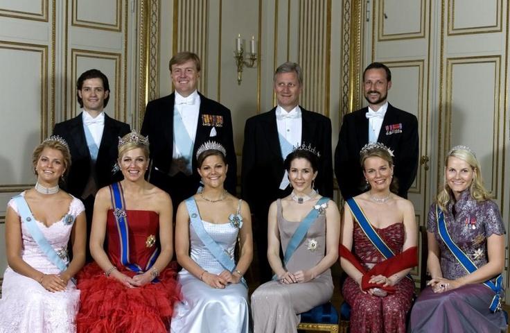 Maxima met haar collega-royals