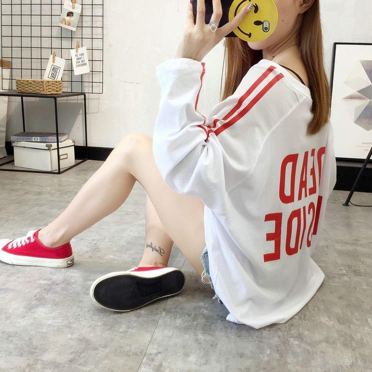 レディースファッション通販★トレンドファッション♪プリントカットソー長袖Tシャツ★2017秋冬新作 韓国ファッション