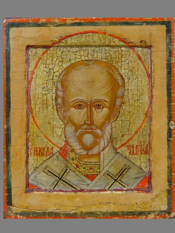 Антиквариат. антикварная Икона «Святой Николай Чудотворец»