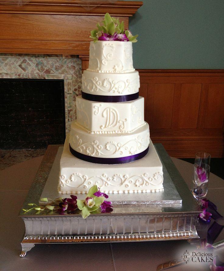 98 best Square/Round Wedding Cakes images on Pinterest   Cake ...