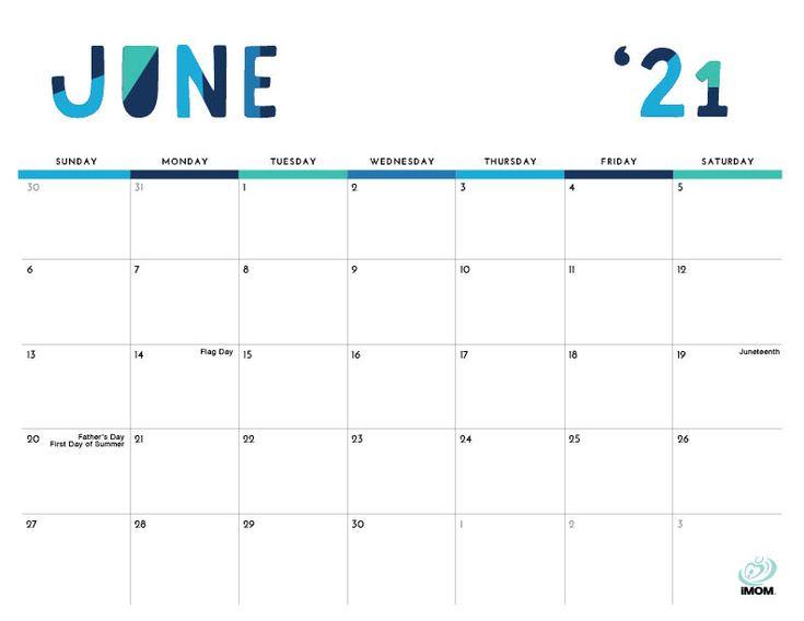 2020 and 2021 Colorful Printable Calendar for Moms - iMom ...