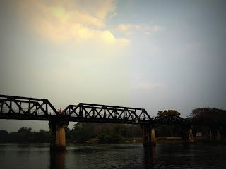 The bridge over River Kwai - The Death Railway And Hellfire Pass http://jouljet.blogspot.com/2013/02/the-death-railway-and-hellfire-pass.html #Thailand #ANZACs #travel #Kanchanaburi