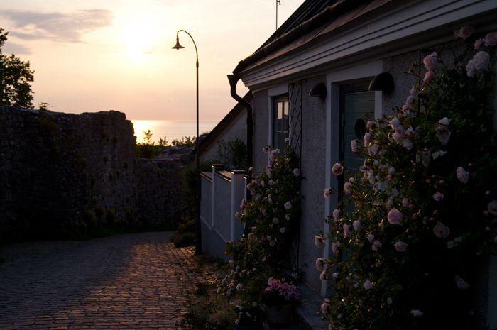 Sunset in Visby. Gotland, Sweden.