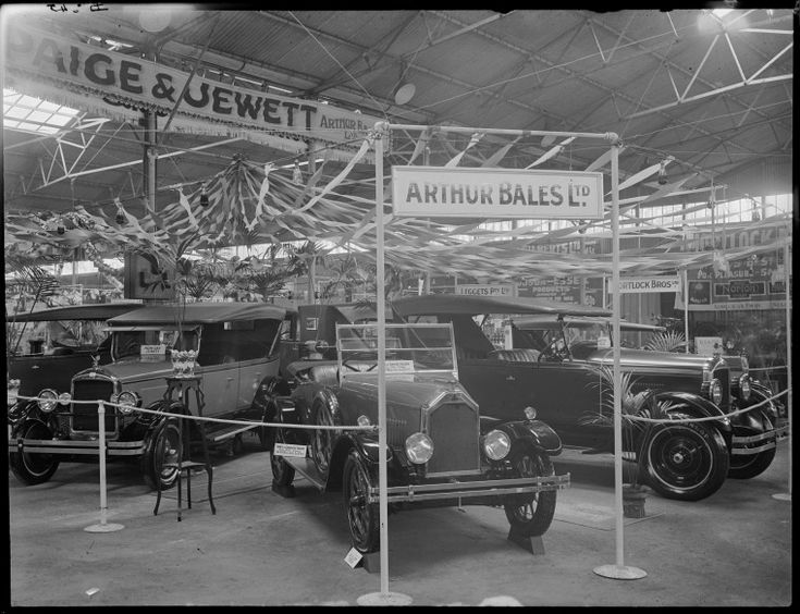100114PD: Motor cars exhibited by Arthur Bales Ltd at the Perth Royal Show, 1926 https://encore.slwa.wa.gov.au/iii/encore/record/C__Rb3473303
