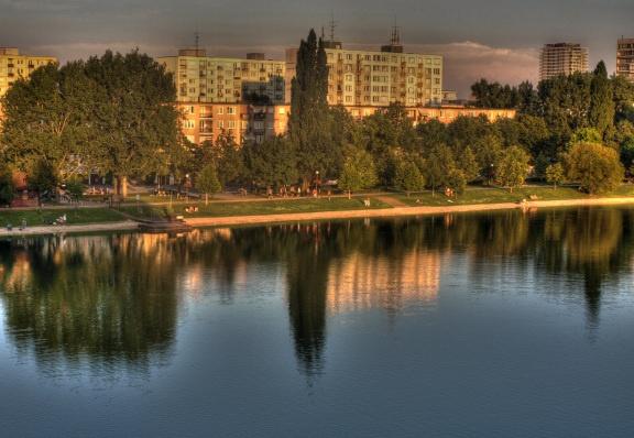 Štrkovecké Lake in Bratislava