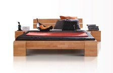 Superbe chevet en bois massif en finition naturel huilé ou wenge laque pour chambre à coucher, faisant parti d'une ligne de mobilier haut de gamme disponible en vente sur le site lit-bois.com