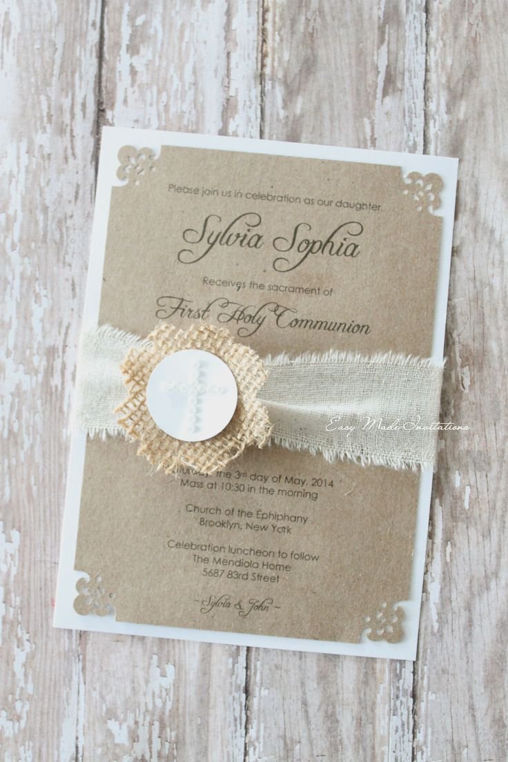 First Communion or Baptism Invitations by EasyMadeInvitations