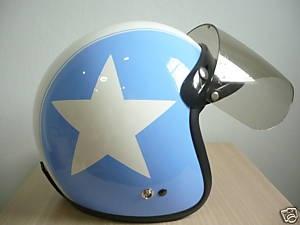 Vintage scooter's helmet, Blue Star.