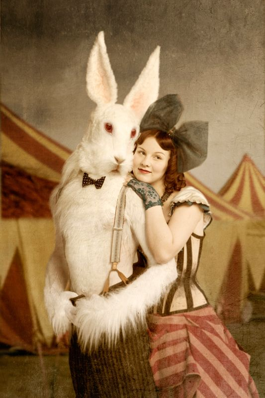 For bunny girls and vintage freaks! AT THE CIRCUS by photographer Saara Salmi. Photography print, 21x30 cm, 70 €, with frames 90 €.
