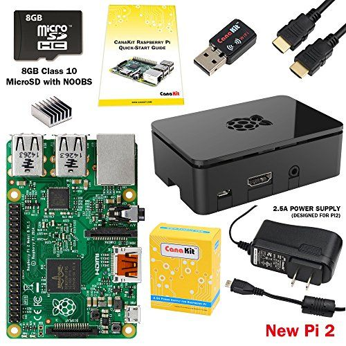 CanaKit Raspberry Pi 2 Complete Starter Kit with WiFi (Latest Version Raspberry Pi 2 + WiFi + Original Preloaded 8GB SD Card + Case + Power Supply + HDMI Cable) CanaKit http://www.amazon.com/dp/B008XVAVAW/ref=cm_sw_r_pi_dp_XQvvwb006ZPPC