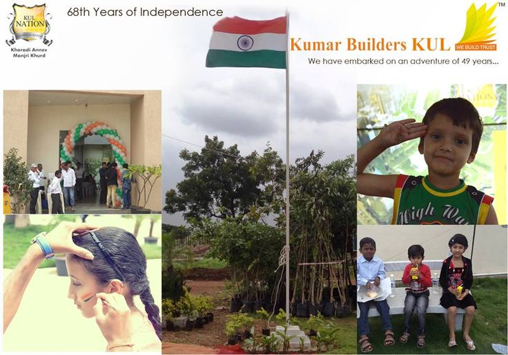 Flag Hoisting at Kumar Builders KUL. Celebrating 68 Years of Independence.