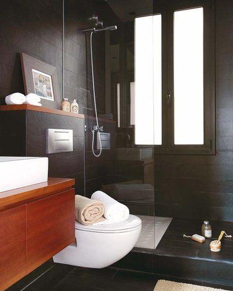 Mueble Baño Sobre Inodoro:Más de 1000 ideas sobre Baños En Blanco Y Negro en Pinterest