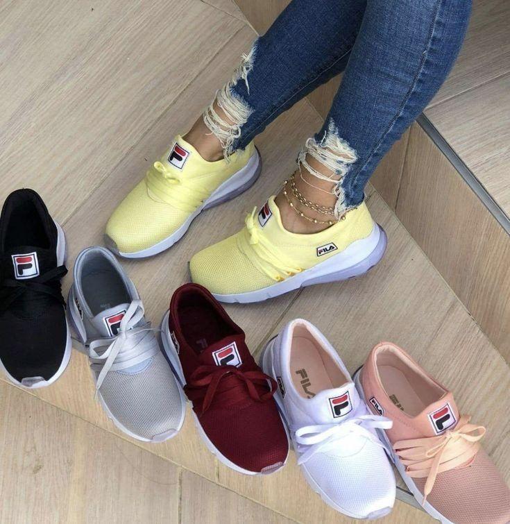dd1007b15a Fila Feminino Sapatos De Grife, Sapatos Femeninos, Sapatos Fofos, Sapatos  Fashion, Tênis