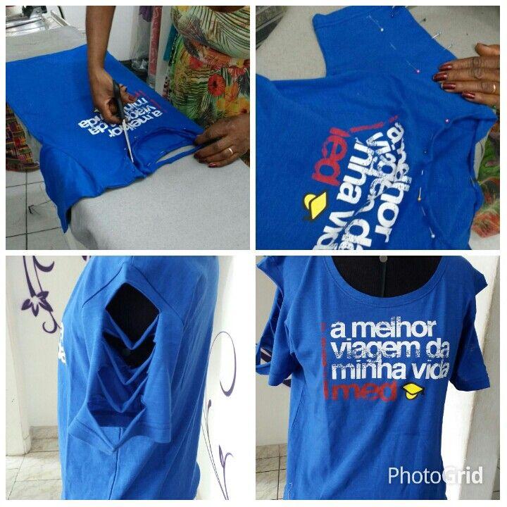 Customizacao  de camisetas em abada.   Acesse  www.elcosturas.com.br