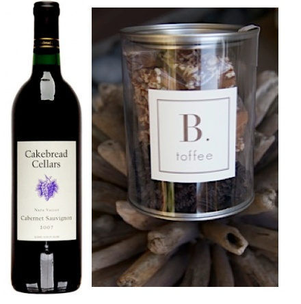 Cakebread Cabernet Sauvignon is the perfect match for a piece of dark chocolate B. toffee