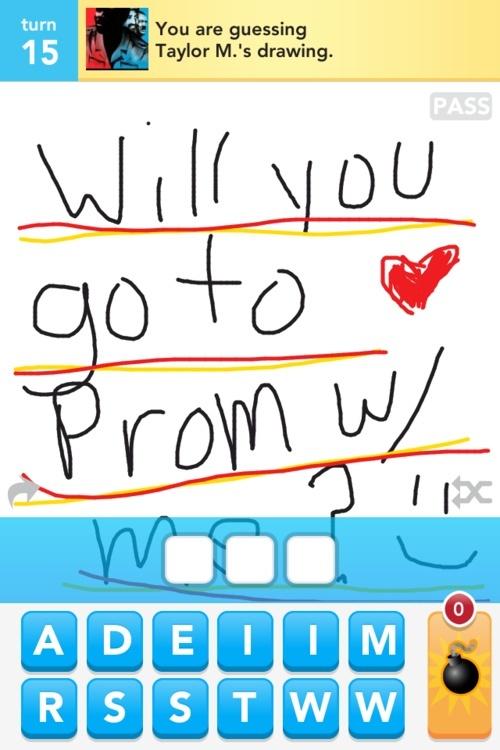 Prom invite using Draw Something. So fun!