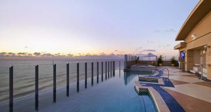 The rooftop bar and infinity pool at #Hilton Virginia Beach Oceanfront was rated by both Coastal Living and GQ as one of the Top 10 Rooftop Bars in the U.S.