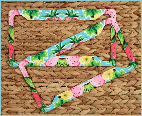 Lilly Pulitzer Inspired Monogram License Plate by ChicMonogram