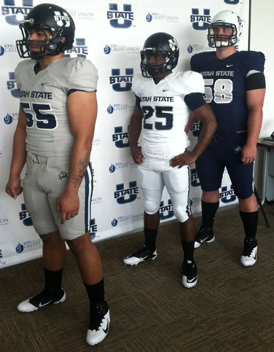 New Utah State Football Uniforms. Loving the helmets. Aggies are going to  look better than my Cougars out there this year. Step up your ga… 4a1faf043