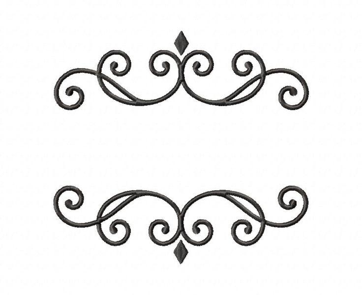 Elegant Monogram Font Frame