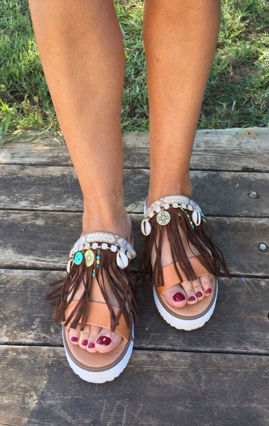 Leather Sandals ''Danae'' Strappy Sandals by BohemianFootprints