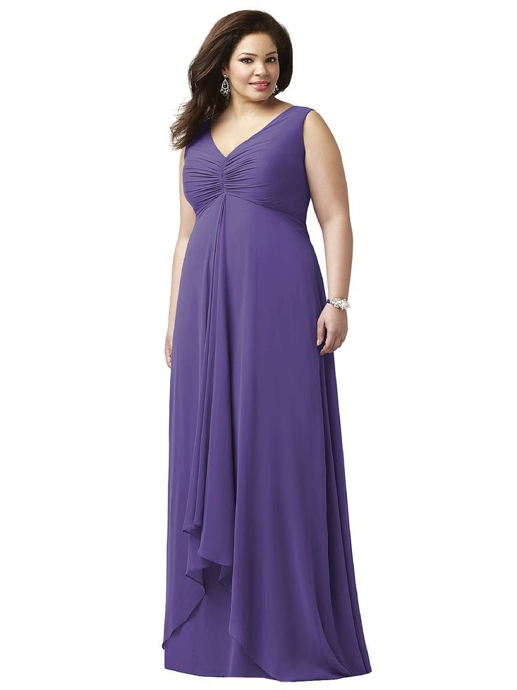 28 best top 100 plus size bridesmaid dresses images on for Plus size purple wedding dress