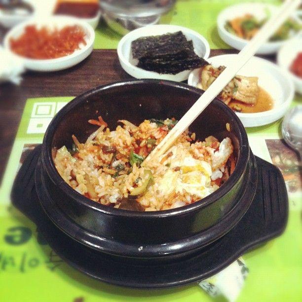 Comida coreana, picada, sabores nuevos