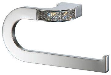 Carmen Small Towel Ring Holder, Swarovski Crystal - modern - Towel Bars And Hooks - Macral Design Corp