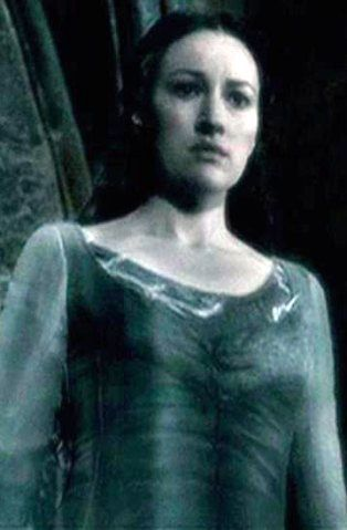 """Kelly Macdonald portrayed Helena Ravenclaw, also known as """"the Grey Lady"""", in Harry Potter and the Deathly Hallows: Part 2. She replaced Nina Young who portrayed Helena in Harry Potter and the Philosopher's Stone and in Harry Potter and the Chamber of Secrets."""