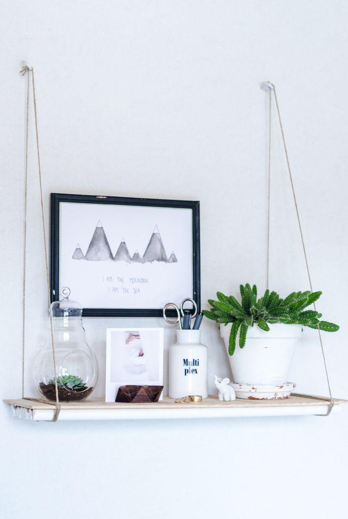 DIY: hylla i vitt och trä