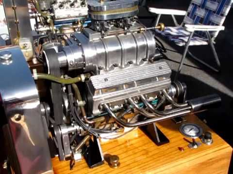 blown supercharged miniature model v 8 engine nice. Black Bedroom Furniture Sets. Home Design Ideas