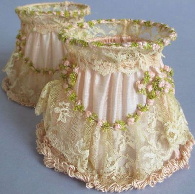 Romantic Cottage Lampshades - Inspiration for transforming the dresser lamps I have.