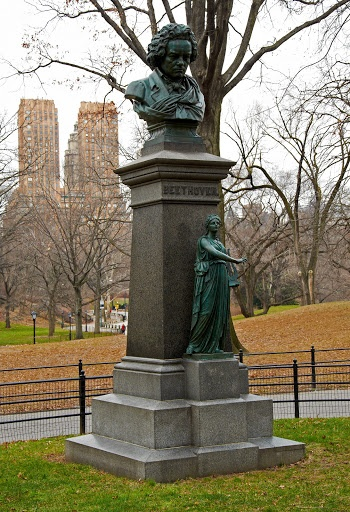 Ludwig von Beethoven Statue in Central Park. New York, New York.