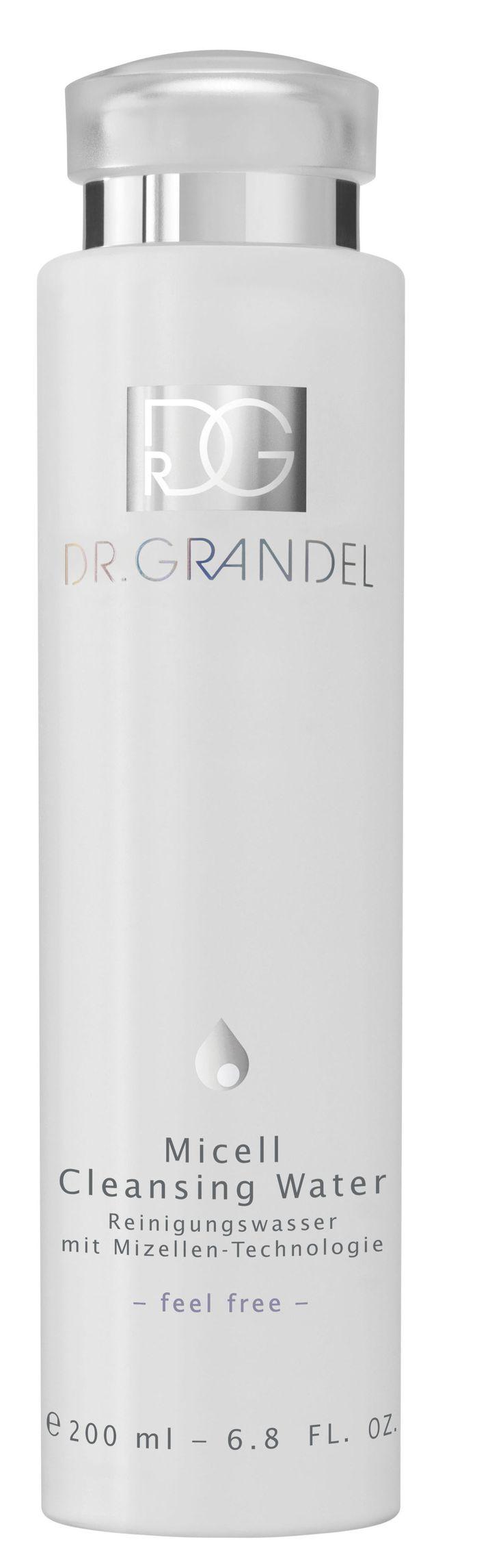Das klare Reinigungswasser mit Mizellen-Technologie von Dr. Grandel schenkt im Handumdrehen ein porentief reines, befreites Hautgefühl. © Dr. Grandel