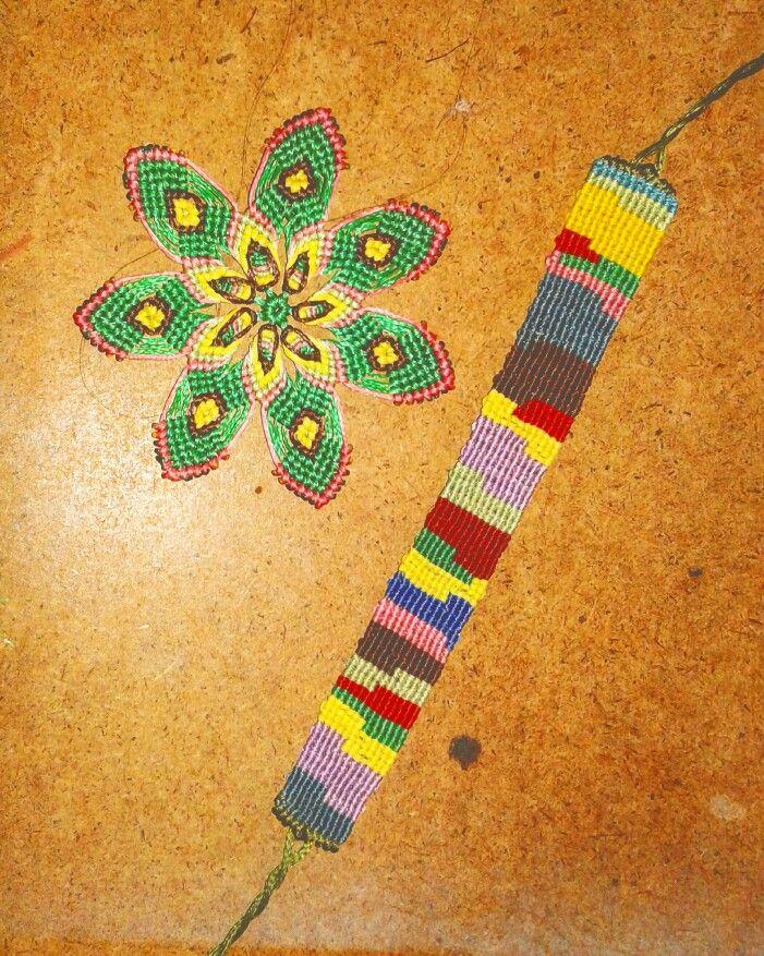 Macrame bracelet and flower