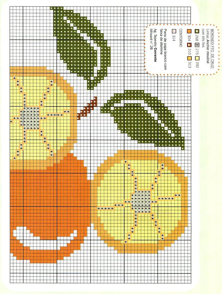Ponto Cruz laranja