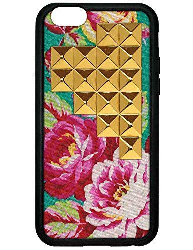Amazon.co.jp: wildflower ( ワイルドフラワー ) ロサンゼルス の 華やか ローズ ピラミッド スタッズ iphone6ケース Teal Rose Gold Studded Pyramid iPhone 6 Case ファブリック ティール ゴールド スタッド アイフォン ケース モバイル カバー apple6 海外 ブランド: 家電・カメラ
