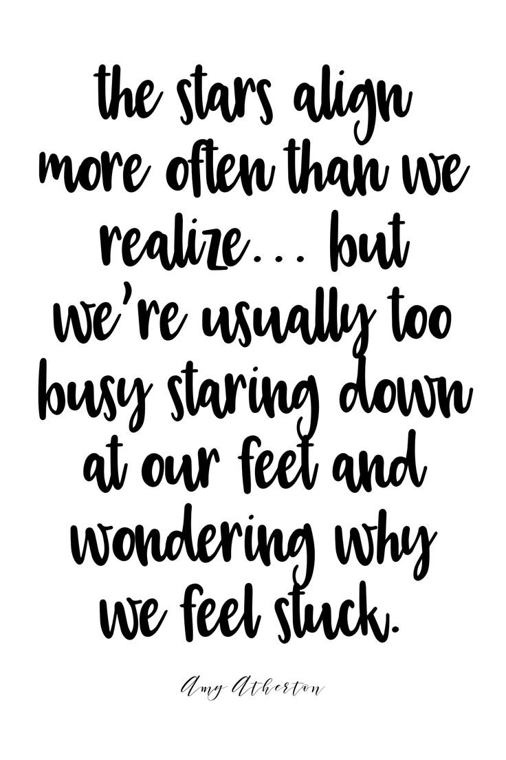 The stars align more often than we realize... But we're usually too busy staring down at our feet and wondering why we feel stuck. @amybakeshealthy