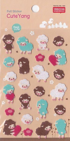 Stickervel cute sheep - vilt