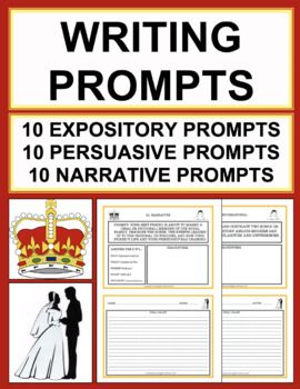 Royal Wedding Writing Prompts Middle School Junior High Teaching Tools Pinterest And Clroom
