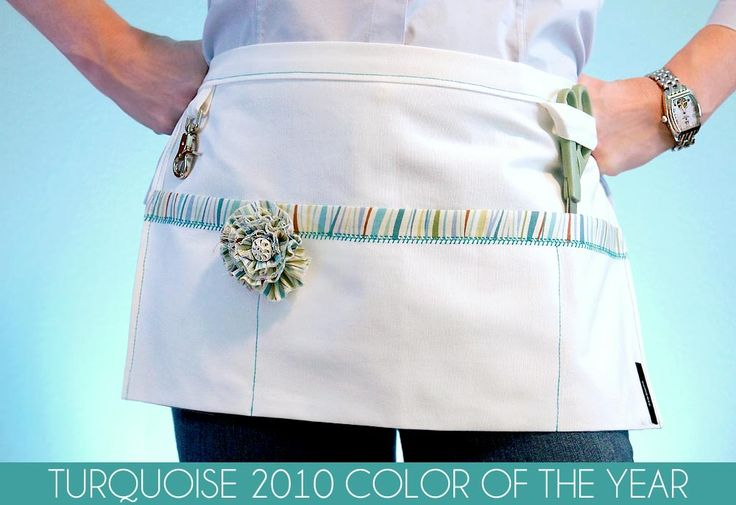 DIY market apron --- aprons are much better for money. Consider doing away with your cash box.