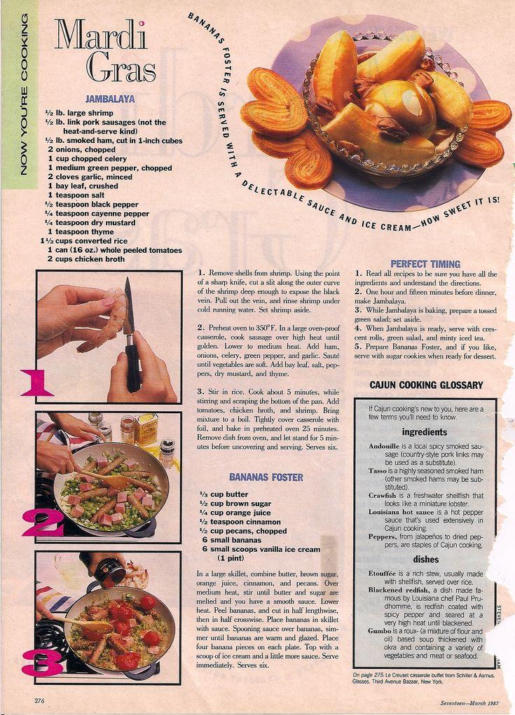 17 best recipes seventeen mag 80s images on pinterest seventeen mardi gras food menu tags 1980s seventeen magazine recipes vintage seventeen recipes forumfinder Images