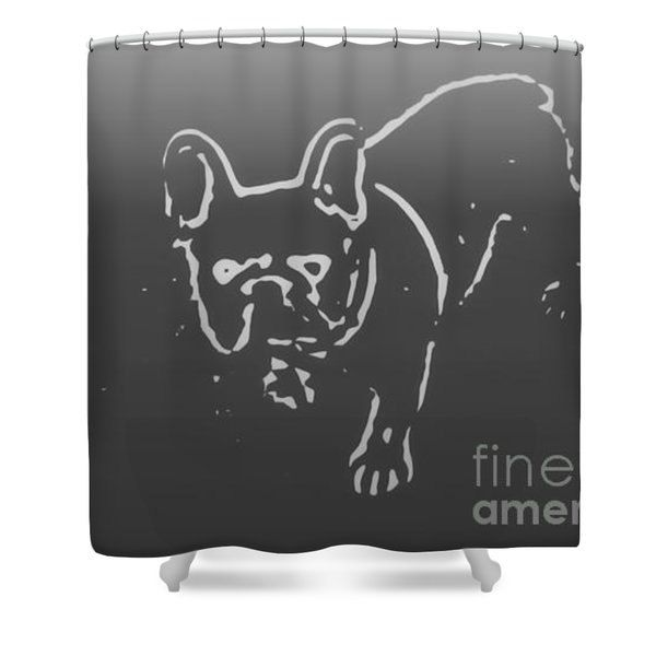 Designer Shower Curtain  Dog Bathroom Curtain  Bathroom Decor  Frenchie  Bathroom Accessories  Pet. Best 25  Dog bathroom ideas on Pinterest   Dog potty  Dog backyard