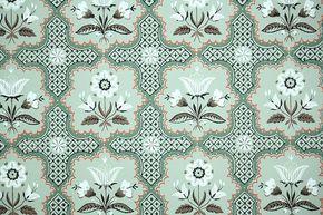 fond d'écran vintage des années 1940 par la Cour - fond d'écran Floral avec des fleurs de l'Art populaire blanc et marron sur le vert