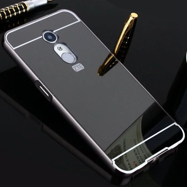 Phone Cases For ZTE Blade A910 Case Plating Mirror Aluminum Metal Bumper + PC Back Cover for ZTE A610 A510 Case A 510 610 910