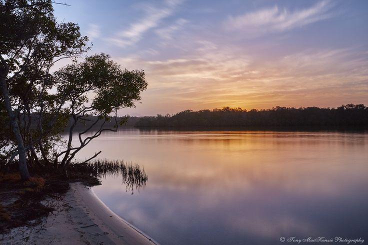 Lake Weyba, Queensland, Australia.