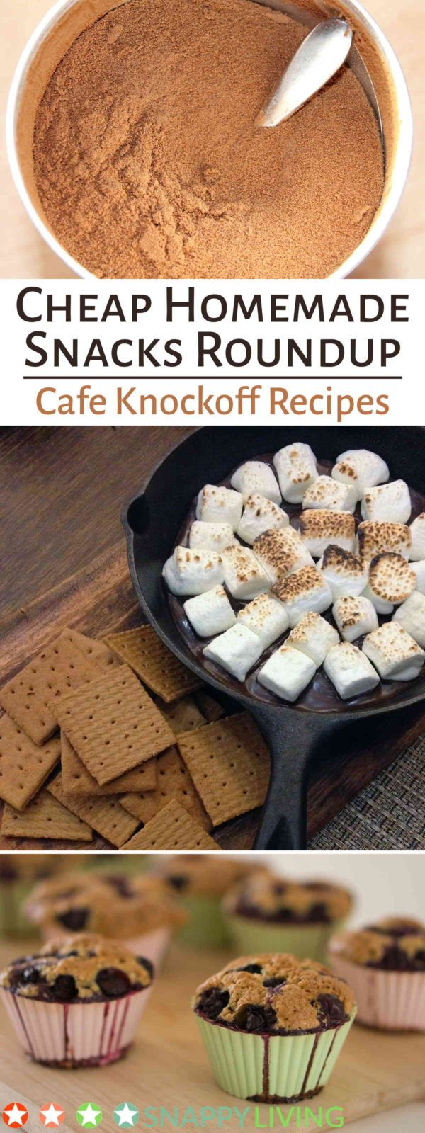 Make your own cappuccino mix, Cinnabons, Starbucks muffins and more with these recipes for homemade snacks. Pay a fraction of the price for buying them at shops and stores, and still get all the enjoyment.