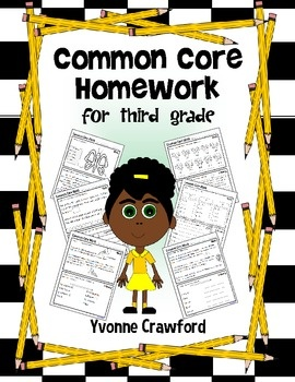 Common Core Homework for Third Grade includes 120 worksheets that you can